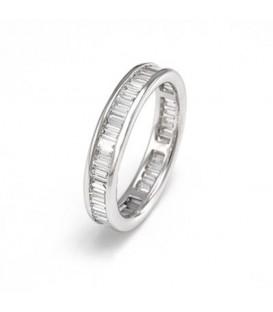 Aliança or blanc i diamants baguette 1,50 cts