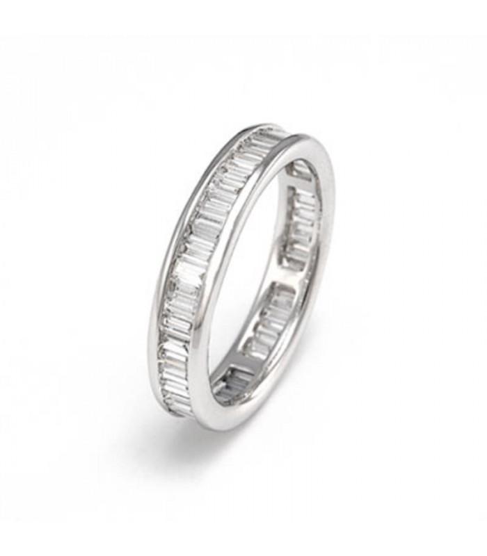 a5411e365e2c Alianza oro blanco y diamantes baguette 2