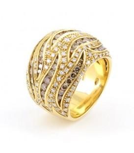 Anell or groc Damiani Jungle diamants 2,48 quirats