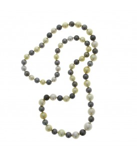 Collar arlequí perla australiana i tahití 10-15,2 mil.límetres