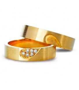 Aliança boda or groc Ridel
