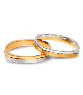 Aliança boda or bicolor Atria