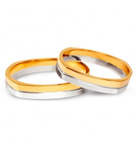 Aliança boda or bicolor Anser