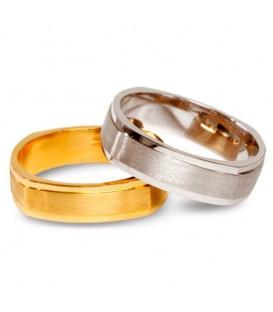 Aliança boda or bicolor Alrai