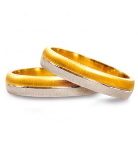 Aliança boda or bicolor Rigel