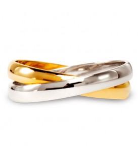Aliança boda or bicolor Duo