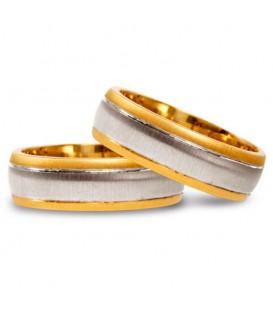 Alianza boda oro bicolor Cassiopea