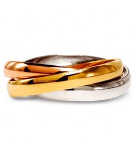 Aliança boda or tricolor Trinity
