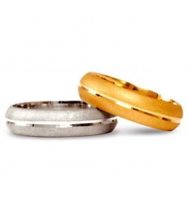 Alianza boda oro amarillo Oak