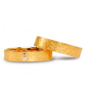 Alianza boda oro amarillo Spring