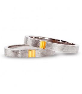 Alianza boda oro bicolor Grasp