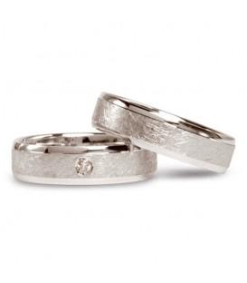 Alianza boda oro blanco Brand