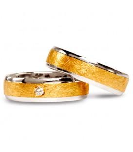 Aliança boda or bicolor Eterna