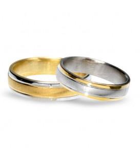 Aliança boda or bicolor Twenty