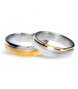 Aliança boda or bicolor Twenty-one
