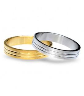 Aliança boda or bicolor Twelve