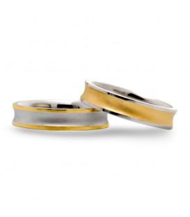 Aliança boda or bicolor Oval