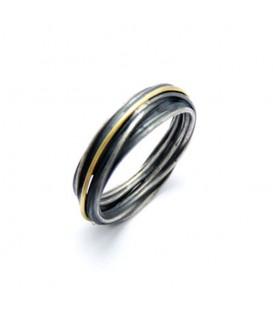 Aliança boda plata i or Spiral