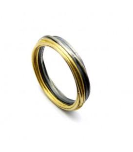 Aliança boda plata i or Spiral Mini