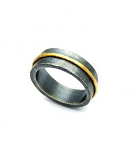 Aliança boda plata i or Ring