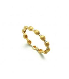 Anillo oro diamantes 0,07