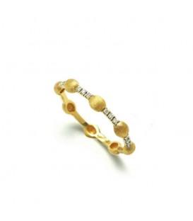 Anillo oro diamantes 0,14