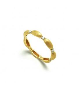 Anillo oro diamantes 0,08