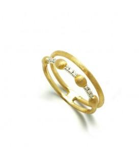 Anillo oro diamantes 0,05