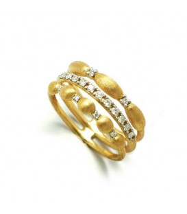 Anillo oro diamantes 0,20