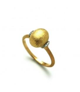 Anillo oro diamantes 0,04