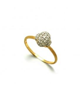 Anillo oro diamantes 0,25