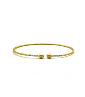 Pulsera oro con diamantes 0,08
