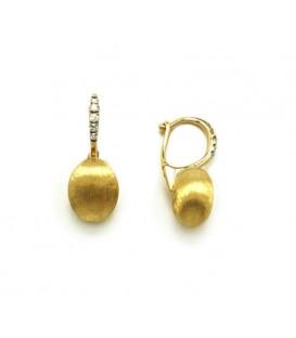 Pendientes oro con diamantes 0,09