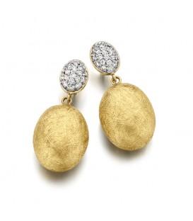 Pendientes oro con diamantes 0,36